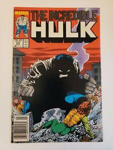 Incredible Hulk #333 (1987) NM- 9.2 Quality of Life Todd McFarlane Art Newsstand