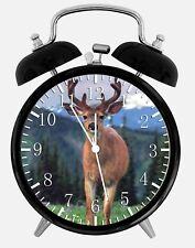 "Deer Buck Alarm Desk Clock 3.75"" Home or Office Decor W337 Nice For Gift"