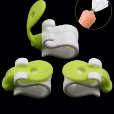 3PCS Silicone Cake Decorating Bag Clips Kitchen Accessories Cakes Bakeware To_H2