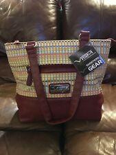 VISM BWK003 DESIGNER HANDGUN CCW CONCEALED CARRY PURSE WOVEN TOTE BROWN R/L USE