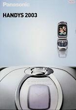 Prospekt Panasonic celular 2003 folleto plegado móvil x70 gd87 g60 g50 gd55 Mobile