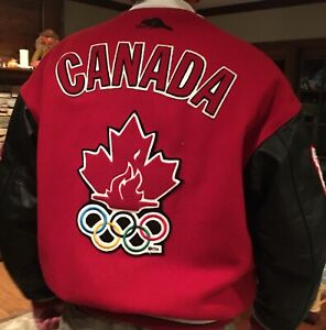 Vintage Roots Team Canada 1998 Olympic Wool Jacket Nagano Winter Games