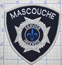 CANADA, MASCOUCHE FIRE DEPT SERVICE INCENDIE QUEBEC WHITE EDGE PATCH
