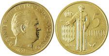 MONACO  ,  RAINIER  III ,  5  CENTIMES  1976   ESSAI  ,  FLEUR  DE  COIN