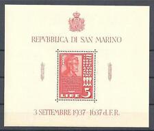 San Marino 1938 Sc# 187 Abraham Lincoln (red) souv sheet MNH