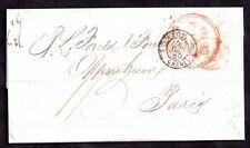 France 1850 Paid Cover Calais to Paris WS11319