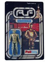 Vintage 1977 Star Wars C-3PO See-Threepio Figure On Custom Made Card Back