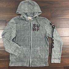 Hollister Mens Size Medium Gray Zipper Front Hoodie Jacket Front Pockets