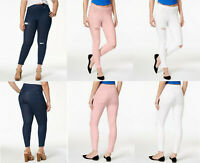 HUE Women's Plus Size Original Denim Ripped Knee Skimmer Leggings