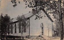 D16/ Shawnee Ohio Postcard RPPC Perry County c1910 M.E. Church Building