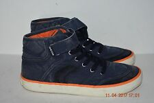 Geox Youth Boys High Top Canvas Sneakers Size 4
