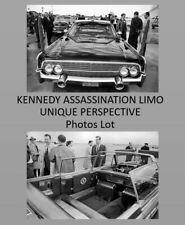 Unique John F Kennedy Dallas Limousine PHOTO Lot Assassination,JFK 2 Limo PHOTOS