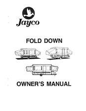 1987 Jayco Cardinal King Dove Thrush Jay Popup Trailer Owners Manual