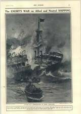 1918 Attack On A Merchant Ship By Enemy Submarines Charles Wyllie