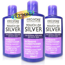 3x Touch Of Silver Intensive Conditioner 150ml For Blonde, Platinum, White Hair