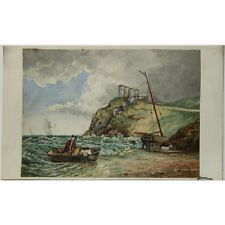 J Morgan Traditional Coastal Landing Landscape Bristol 1810 Watercolour Painting