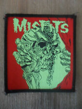 Misfits Dead face Sew On patch black vintage metal