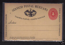 Mexico 3c Postal Stationery Postcard 1880's