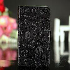 Samsung Galaxy ACE S5830 Comic Handy Flip Case Schutz Hülle Klapp Etui Schwarz