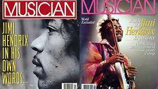 Musician Magazine - 2 Issues Featuring Jimi Hendrix 1986 1991