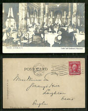 New York rppc Hotel Astor Restaurant NY stamp 1906