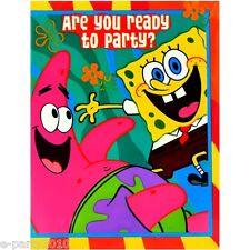 (16) SPONGEBOB SQUAREPANTS PARTY INVITATIONS Patrick Birthday Supplies Tarjetas