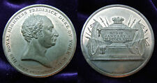 RARE 1827 White Metal Frederick Duke Of York Death Commemorative Medal By OTTLEY