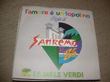 """LE MELE VERDI """" L'AMORE E' UN TOPOLINO """" SIGLA SANREMO'85  ITALY"""