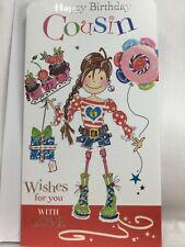 Beautiful Glittery Jonny Javelin Twingles Cousin Birthday Card - With Love