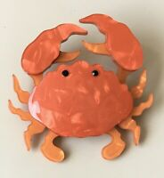 Unique Crab Brooch  Pin In acrylic