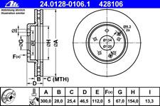 Bremsscheibe (2 Stück) - ATE 24.0128-0106.1
