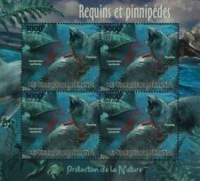 Sea & Marine Life: Great White Shark & Seal Stamp Sheet #5 (2012 Burundi)