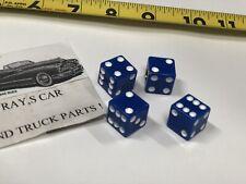 NEW SET OF 4 BLUE DICE TIRE VALVE STEM CAPS ! CAR / TRUCK / BIKE !