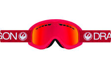 Dragon Alliance DX Ski snowboard Goggles adult Red / Red  Ionized ion NEW