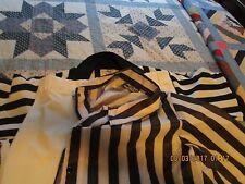 Referee Umpire Shirt Black White Short Sleeve 1/4 Zip men's 2XL  pants jacket