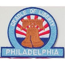 LIBERTY BELL PHILADELPHIA Embossed Sew On PATCH New 53305 SIZE 3 X 2.5 INCHES