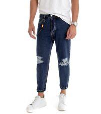 Pantalone Uomo Jeans Lungo Denim Rotture Cinque Tasche GIOSAL