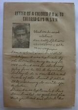 Vietnam Propaganda Leaflet - Nva Made - African American G.I. - Bobby L Johnson