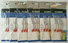 6 x SEASILVER / PLANKTON 4 HOOK SIZE 2/0 FISHING MACKEREL FEATHERS LURES POLLACK