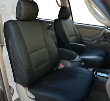 TOYOTA TUNDRA 2000-2003 BLACK S.LEATHER CUSTOM 2 FRONT SEAT & 2 ARMREST COVERS