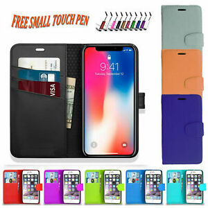WALLET FLIP PU LEATHER CASE COVER POUCH FOR APPLE IPHONE 5S SE 6S 7 8 X XS XR 12