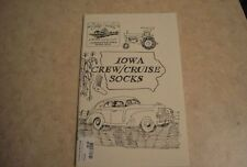 Iowa Crew / Cruise SOCKS--Cottage Creations.... knitting pattern book