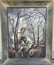 Stahl Signed Oil Painting 1944 39x31 High Country Landscape Impressionism L.A,Ca