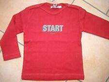 """(X148) Imps & Elfs Baby Langarm Shirt mit Logo & """"Start"""" Druck Druckknöpfe gr.62"""