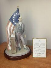 Lladro George Washington #7575 Porcelain Limited Edition #27 Original Box COA