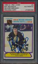 1980 O-Pee-Chee #2 Ray Bourque Autographed HOF RC PSA/DNA Authentic Auto 41069