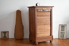 Rolladenschrank Antik Holz Jalousieschrank Vintage Alt Büroschrank Bauhaus Loft