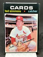 1971 TOPPS TED SIMMONS ROOKIE CARD RC 117 HOF!  GREAT CONDITION!  ST LOUIS