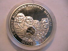 Mount Rushmore National Memorial Medal with Embedded Rushmore Stones Cameo Proof