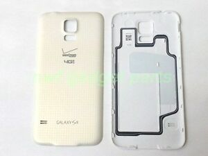 Original Samsung Galaxy G900V Battery Door Cover W/ Waterproof  S5 Verizon WHITE